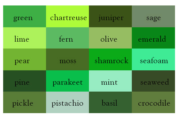 Real 50 shades of grey blessed for Colors shades of green