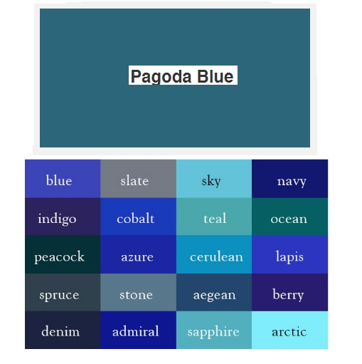 Pagoda Blue