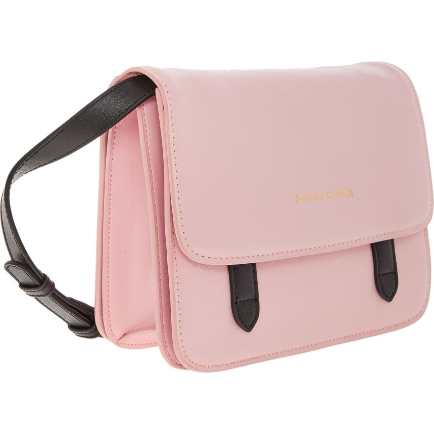 SMITH & CANOVA Pink Leather Satchel