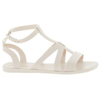 Cream Gladiator Sandals zaxy
