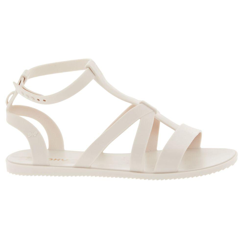 Cream Gladiator Sandals zaxy