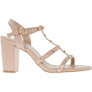 Nude Stud Embellished Heeled Sandals CARVELA