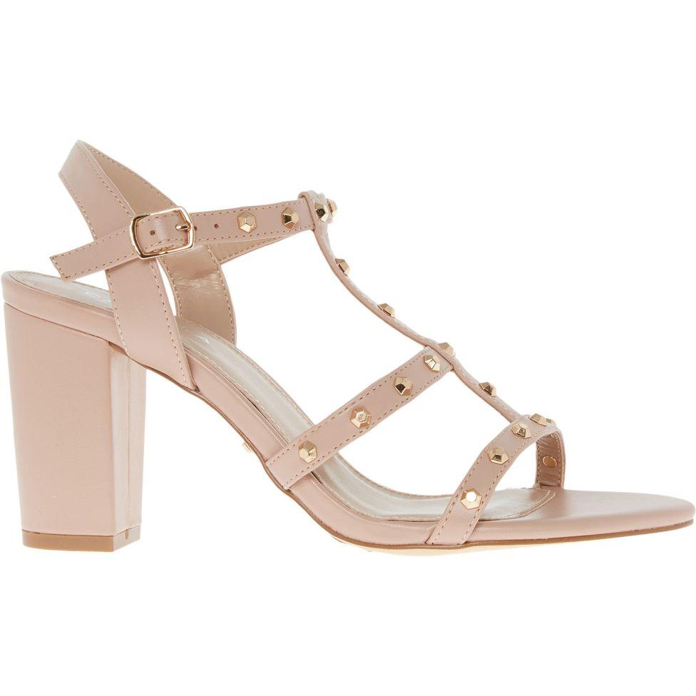Nude Stud Embellished Heeled Sandals CARVELA